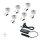 Emuca LED-Einbauleuchten für Schrankinnere, D. 29.5 mm, Konverter 6 W, Kunststoff, Grau metallic, 6 St.