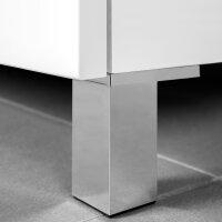 Emuca Möbelfuß, H. 80 mm, Kunststoff, Grau...