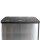 Emuca Außenbehälter mit 3 Fächern à 15 Liter, Edelstahl