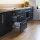 Emuca Schubladen-Kit Vertex für Küche und Bad, H. 93 mm, T. 300 mm, 40 Kg, sanftes Schließen, Stahl, Anthrazitgrau