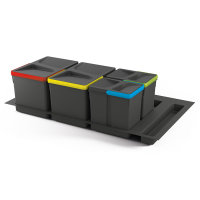 Emuca Recycle-Mülleimer, 12 L + 12 L + 6 L + 6 L,...