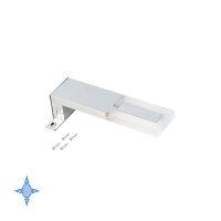 Emuca LED-Anbauleuchte für Badspiegel, 40 mm, IP44, kaltes weißes Licht, Aluminium und Kunststoff, Verchromt