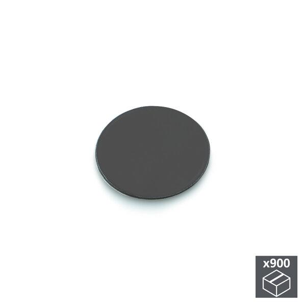 Emuca Abdeckkappe für Schrauben, selbstklebend, D. 20 mm, Anthrazitgrau, 900 St.