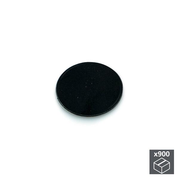 Emuca Abdeckkappe für Schrauben, selbstklebend, D. 20 mm, Schwarz, 900 St.