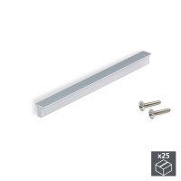 Emuca Möbelgriff, Achsabstand 128 mm, Aluminium,...