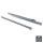 Emuca Satz Führungen für Schubladen, Rollschub, nach unten schließend, 500 mm, Teilauszug, Grau metallic, 5 St.
