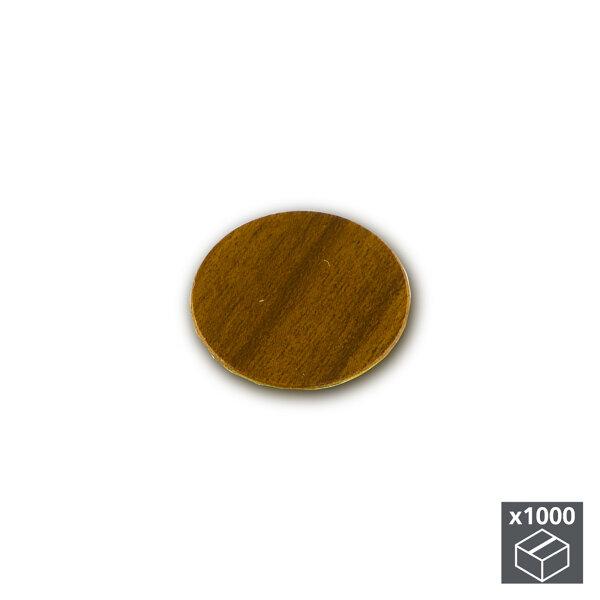 Emuca Abdeckkappe für Schrauben, selbstklebend, D. 13 mm, Braun, 1.000 St.