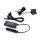 Emuca Ladegerät, quadratisch, zur Einbettung in Möbel, 2 USB-Anschlüsse, 37 mm, Kunststoff, Schwarz