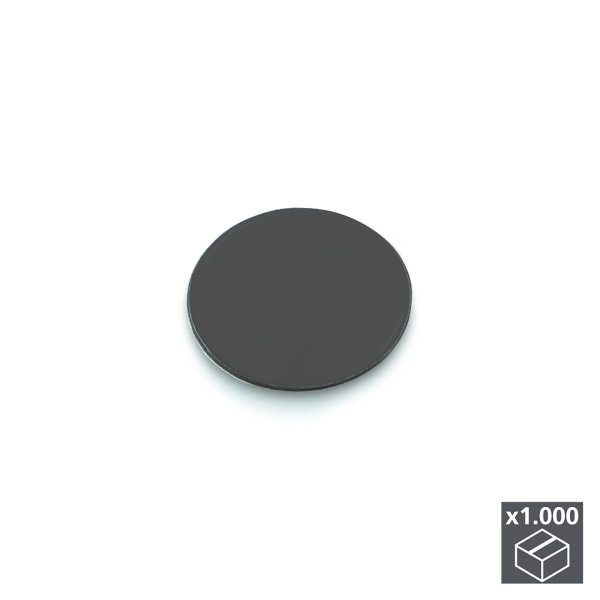Emuca Abdeckkappe für Schrauben, selbstklebend, D. 13 mm, Anthrazitgrau, 1.000 St.