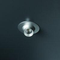 Emuca LED-Leuchten, D. 33 mm, ausrichtbar, Konverter 15 W, kaltes weißes Licht, Aluminium, Matt eloxiert, 6 St.