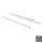 Emuca Satz Führungen für Schubladen, Rollschub, nach unten schließend, 400 mm, Teilauszug, Weiß, 5 St.
