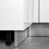 Emuca Nivellierfuß mit vormontiertem Böden für Möbel, höhenverstellbar 148-165 mm, Kunststoff, Schwarz, 4 St.