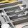 Emuca Besteckfach für Küchenschublade, für Modul 1000 mm, Kunststoff, Grau