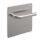 Emuca Türgriffsatz mit Platte 17x17 cm für Innentüren, L-Form, Edelstahl, satiniertes Nickel