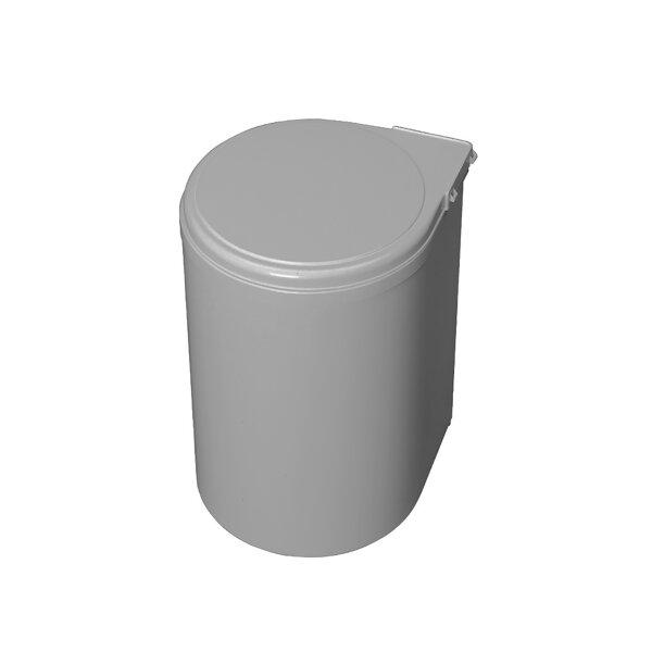 Emuca Mülleimer, 13 L, Befestigung an Türe, automatische öffnung des Deckels, Kunststoff, Grau.