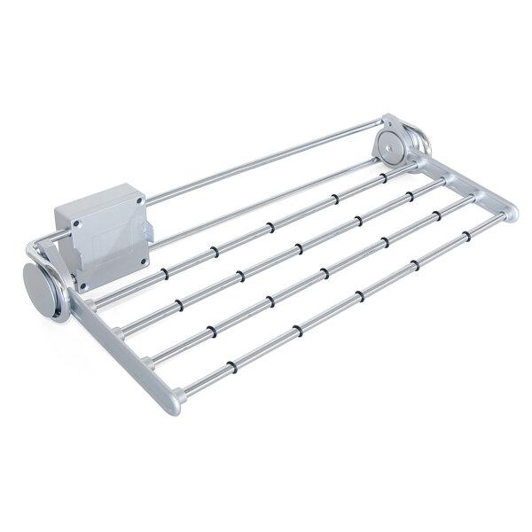 Emuca Ausziehbarer seitlicher Hosenbögel für Schrank, 460 mm, Stahl und Kunststoff, Grau metallic