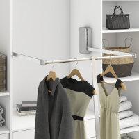 Emuca Abstandhalter für ausziehbare Kleiderstange, Kunststoff, Metallgrau lackiert, 2 st.