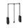 Emuca Kleiderlift für Schränke, regulierbar 450 - 600 mm, bis 12 kg, Stahl, Schwarz
