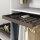 Emuca Ausziehbarer Hosenbögel, regulierbar, für Modul 800 mm, 7 Stangen, Aluminium und Stahl, Farbe Mokka