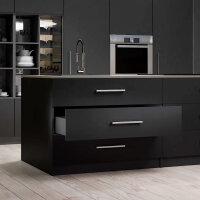 Emuca Schubladen-Kit Vertex Küche und Bad, Bretter enthalten, sanftes Schließen, 500x93mm, 450mm Modul, Stahl, Anthrazit