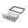 Emuca Kit aus Drahtschublade mit Korb und regulierbaren Führungen, für Modul 600 mm, Stahl und Aluminium, Farbe Mokka