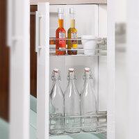 Emuca Ausziehbarer Flaschenhalter, Innenmindestbreite 115 mm, Stahl, Verchromt