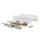 Emuca Schubladen-Kit für Küche Concept, H. 105 mm, T. 400 mm, sanftes Schließen, Stahl, Weiß