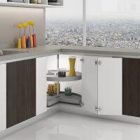 Emuca Satz drehbare Ablagen für Küchenschränke, 270º, für Modul 800 mm, Kunststoff und Aluminium, Grau