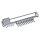 Emuca Ausziehbarer seitlicher Krawattenhalter, Stahl und Kunststoff, Grau metallic
