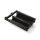Emuca Ausziehbare Schuhschublade für Schränke, für Modul 600 mm, sanftes Schließen, Stahl, Farbe Mokka