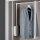 Emuca Ausziehbare Kleiderstange für Schrank, regulierbare 830-1.150 mm, Bis 12Kg, Stahl, Weiß