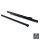 Emuca Satz Führungen für Schubladen, Rollschub, nach unten schließend, 400 mm, Teilauszug, Schwarz, 5 St.