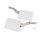 Emuca Klappenhalter für Hubtür, Kraft 3200-9000, Stahl und Kunststoff, Weiß