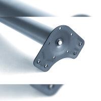 Emuca Tischbeine, D. 60 mm, höhenverstellbar 830-850 mm, Stahl, Satiniert vernickelt, 4 St.