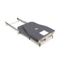Emuca Klappbar Bügelbrett für Möbel, abnehmbar, Montage auf Regal, Stahl und Holz.