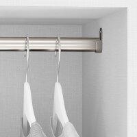 Emuca Set mit  Schrankstange 30x15 mm aluminium, 750 mm, Matt eloxiert