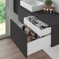 Emuca Schubladen-Kit Vertex Küche und Bad, Bretter enthalten, sanftes Schließen, 500x178mm, 600mm Modul, Stahl, Anthrazit