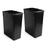 Emuca Außenbehälter mit 2 Fächern à 15 Liter, Edelstahl