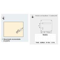 Emuca Türgriffsatz mit Platte 17x17 cm für Innentüren, U-Form, Edelstahl, satiniertes Nickel.