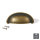 Emuca Möbelgriff, Achsabstand 64 mm, Zamak, Bronce, 20 St.