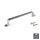 Emuca Möbelgriff, Achsabstand 128 mm, Zamak, Satiniert vernickelt, 20 St.