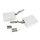 Emuca Kompass für Schwenktüren, Stärke  480-1.250, Stahl und Kunststoff, Weiß