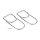 Emuca Flaschenhalter für Möbel, Befestigung unter Regal, 2 Aussparungen, Stahl, verchromt.