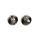 Emuca Satz von Rundem Drehknopf-Schloss mit Rosetten für Innentüren, Durchmesser 35 mm, Zamak, Nickel satiniert, 5 st.