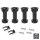 Emuca Nivellierfuß mit vormontiertem Böden für Möbel, höhenverstellbar 118-135 mm, Kunststoff, Schwarz, 40 St.