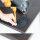 Emuca Tischbein, D. 60 mm, höhenverstellbar 870-890 mm, Stahl, Schwarz