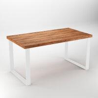 Emuca Satz mit zwei Square rechteckigen Tischbeinen, Breite 800 mm, weiß lackiert