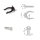 Emuca Nivellierfuß mit vormontiertem Böden für Möbel, höhenverstellbar 148-165 mm, Kunststoff, Schwarz, 40 St.