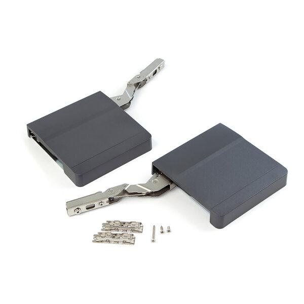 Emuca Klappenhalter für Hubtür, Kraft 960-2040, Stahl und Kunststoff, Anthrazit