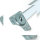 Emuca Tischbein, quadratisch, höhenverstellbar 710-730 mm, Aluminium, Matt eloxiert